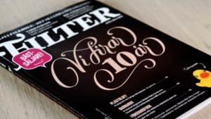 Printed lettering cover for Magasinet Filter