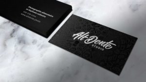 Business cards for Alt Dente Studio