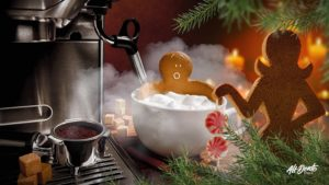 Photo of gingerbread man bathing. Photo by: Alt Dente Studio