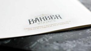 Brochure design back page for Barber Art & Crafts