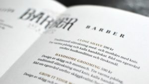 Brochure design for Barber Art & Crafts