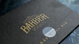 Gift card design for Barber Art & Crafts
