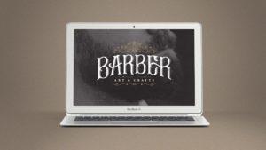 Website design for Barber Art & Crafts