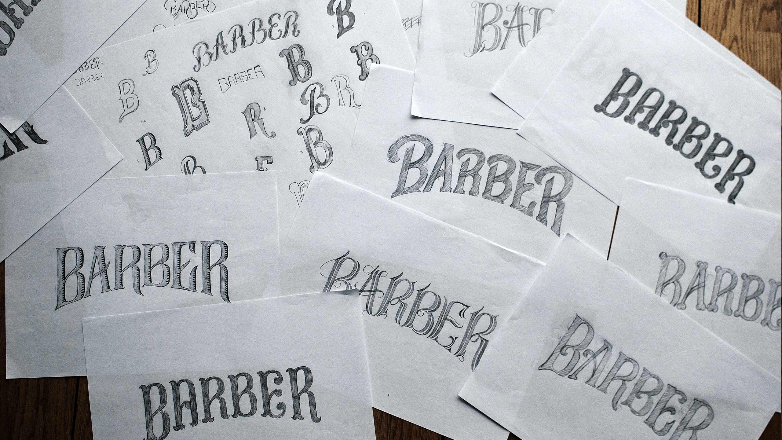 Sketches for Barber Art & Crafts