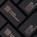 Business cards design for Bartolo Entertainment