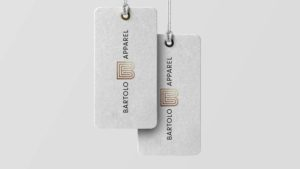 Clothing tags for Bartolo Entertainment