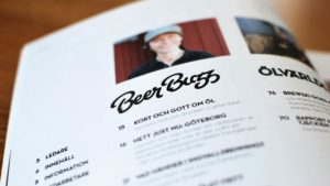 Beer Buzz logo in printed magazine.