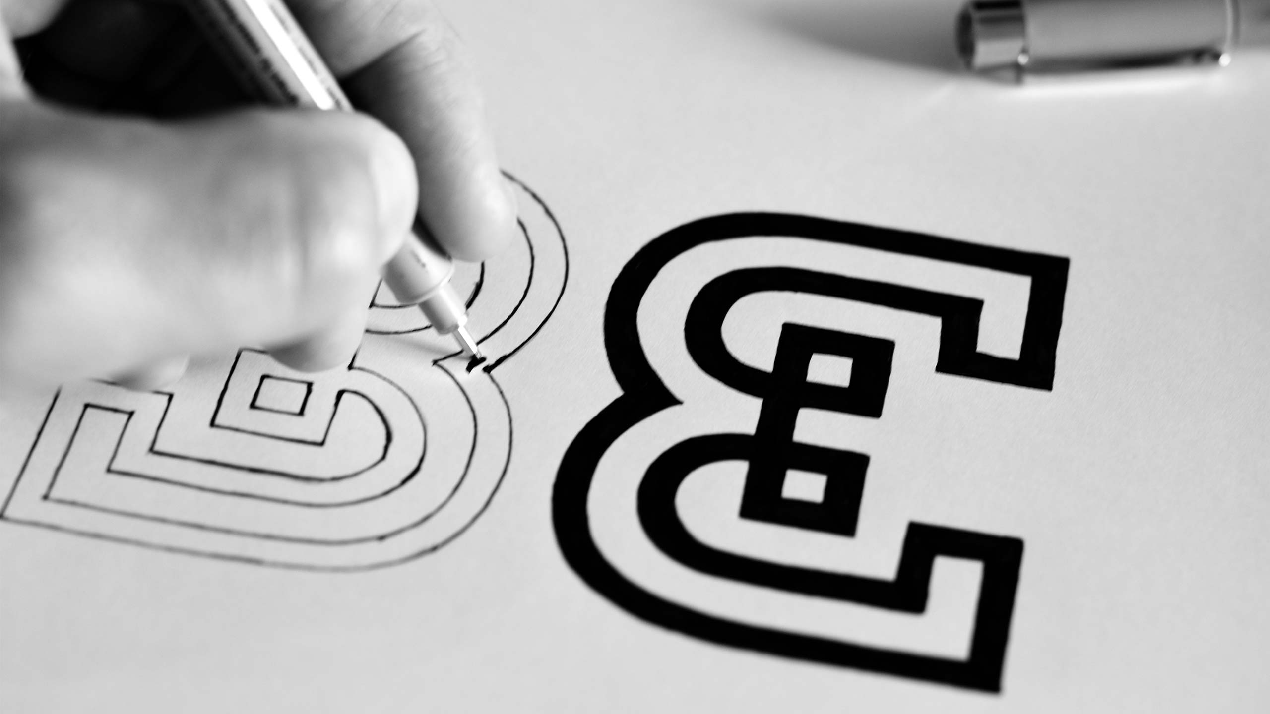 Inking symbol for BE.