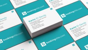 Business cards design for Booking Elite.