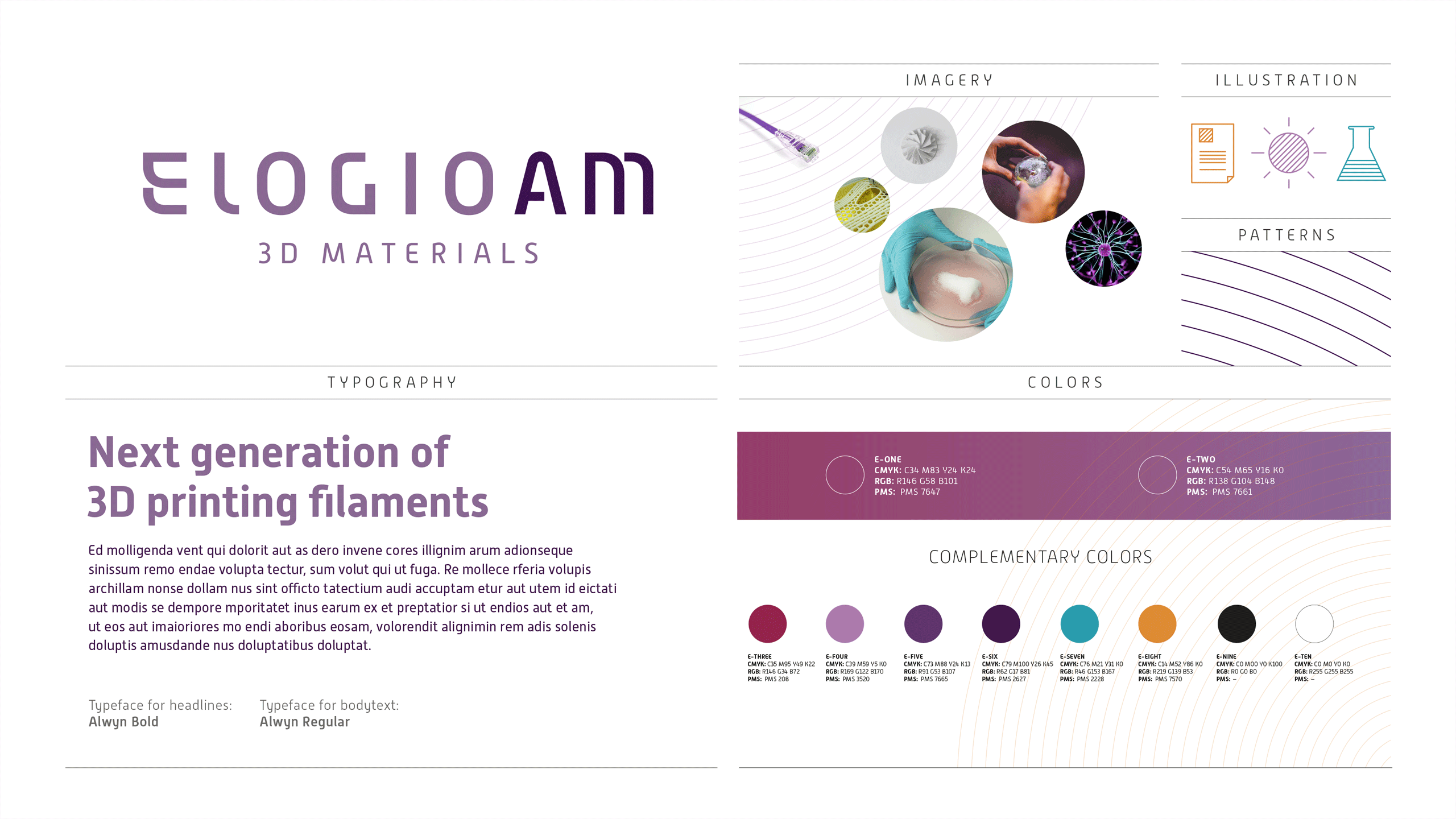 Overview of visual identity for ElogioAM.