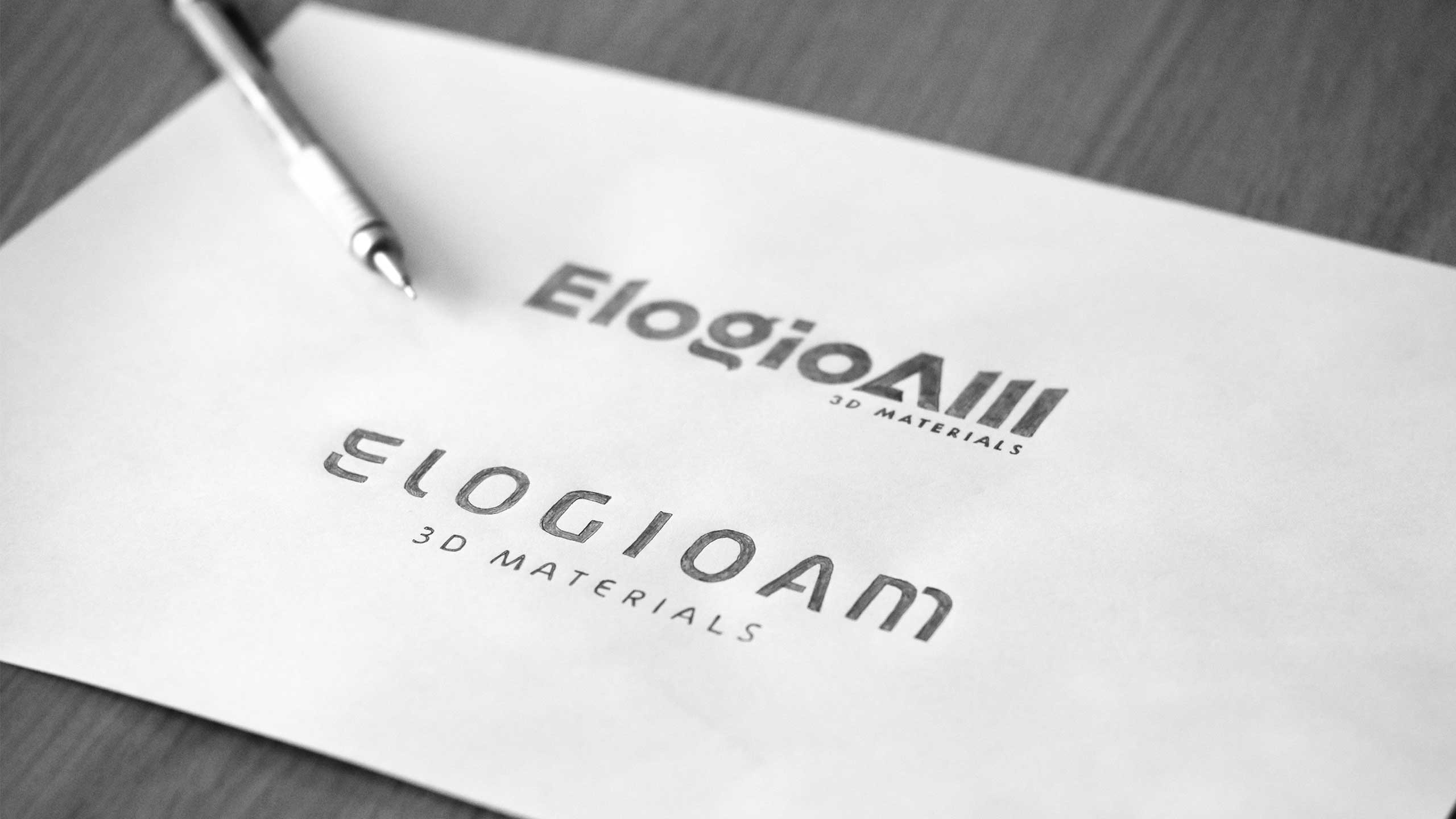 Sketches for ElogioAM visual identity.
