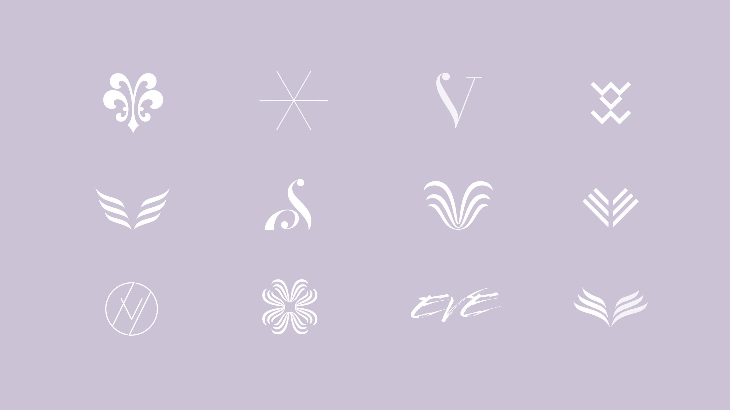 Digital logo drafts for Eve Stockholm