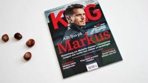 King Magazine cover.
