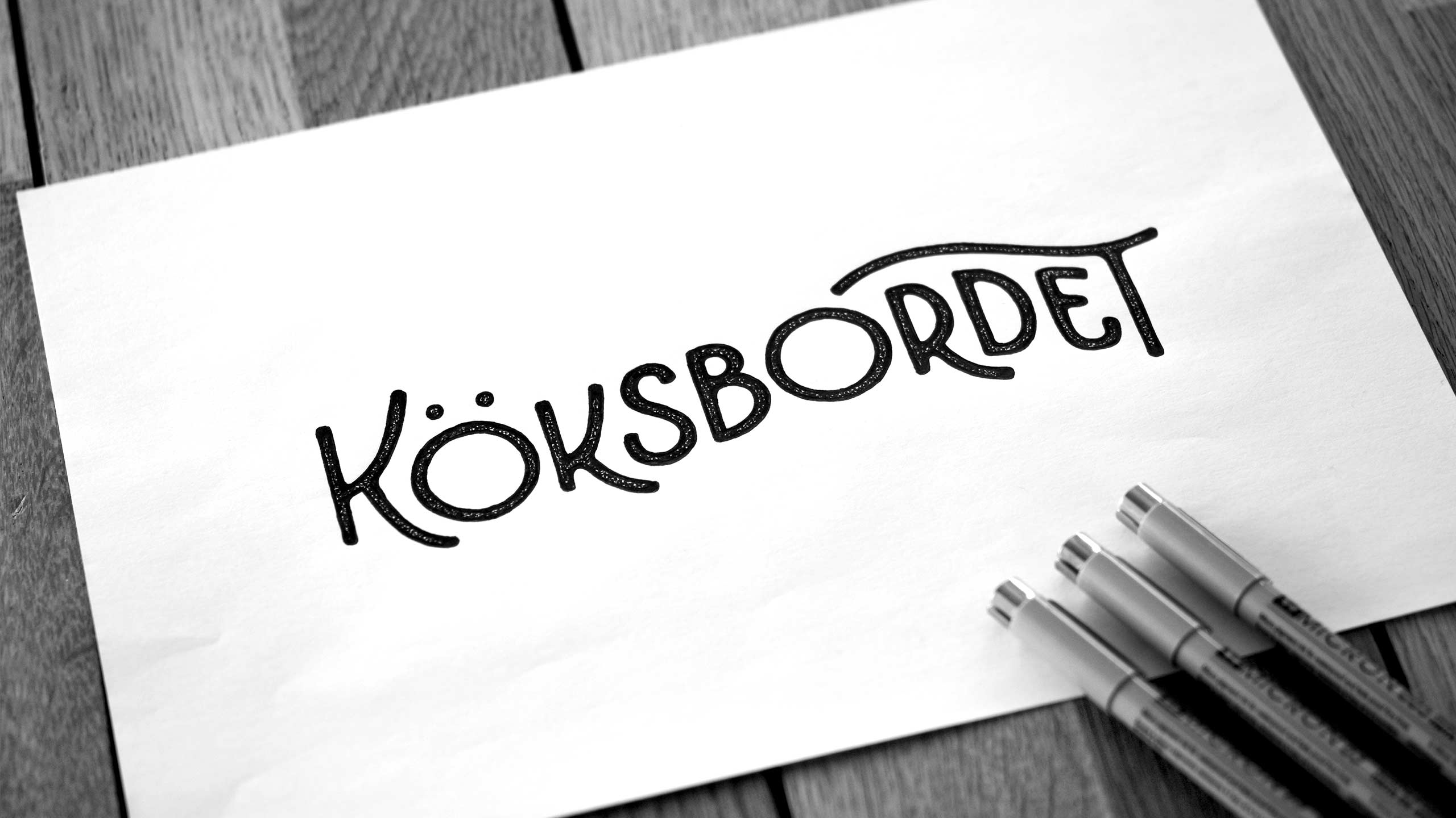 Inked sketch for Köksbordet