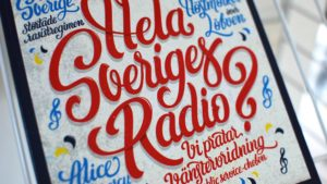 Printed lettering for Magasinet NEO