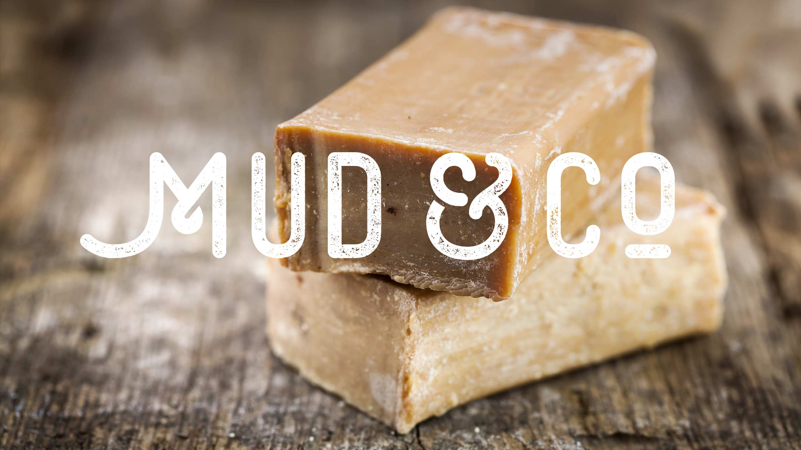 Final logo on soap bars for Mud & Co