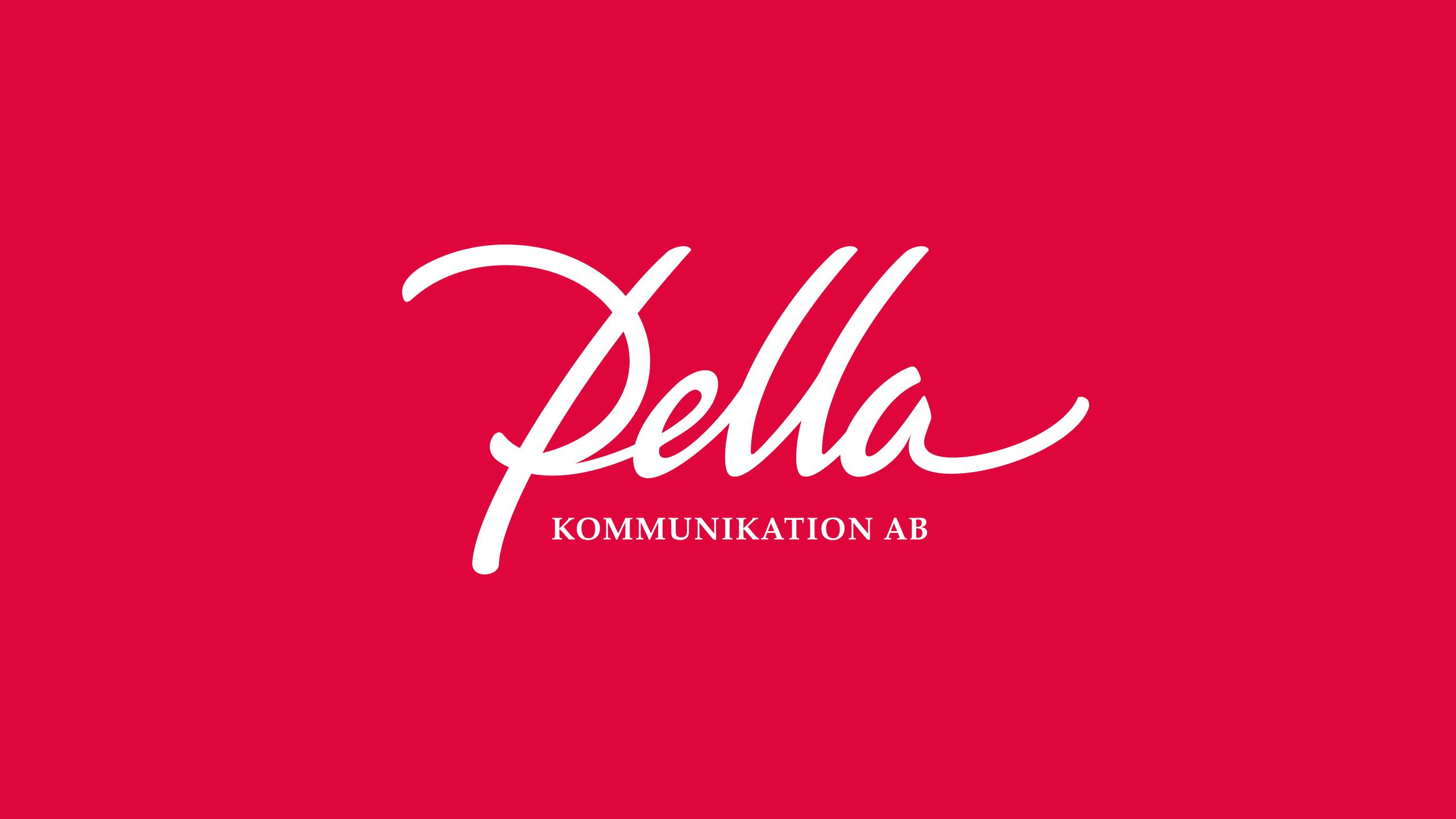 Final logo for Pella Kommunikation