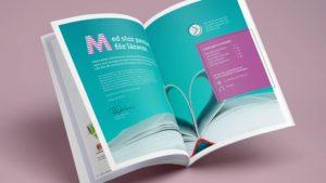 Brochure spread design for Penman