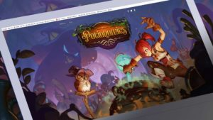 Game screen shot with final logo for Potionomics