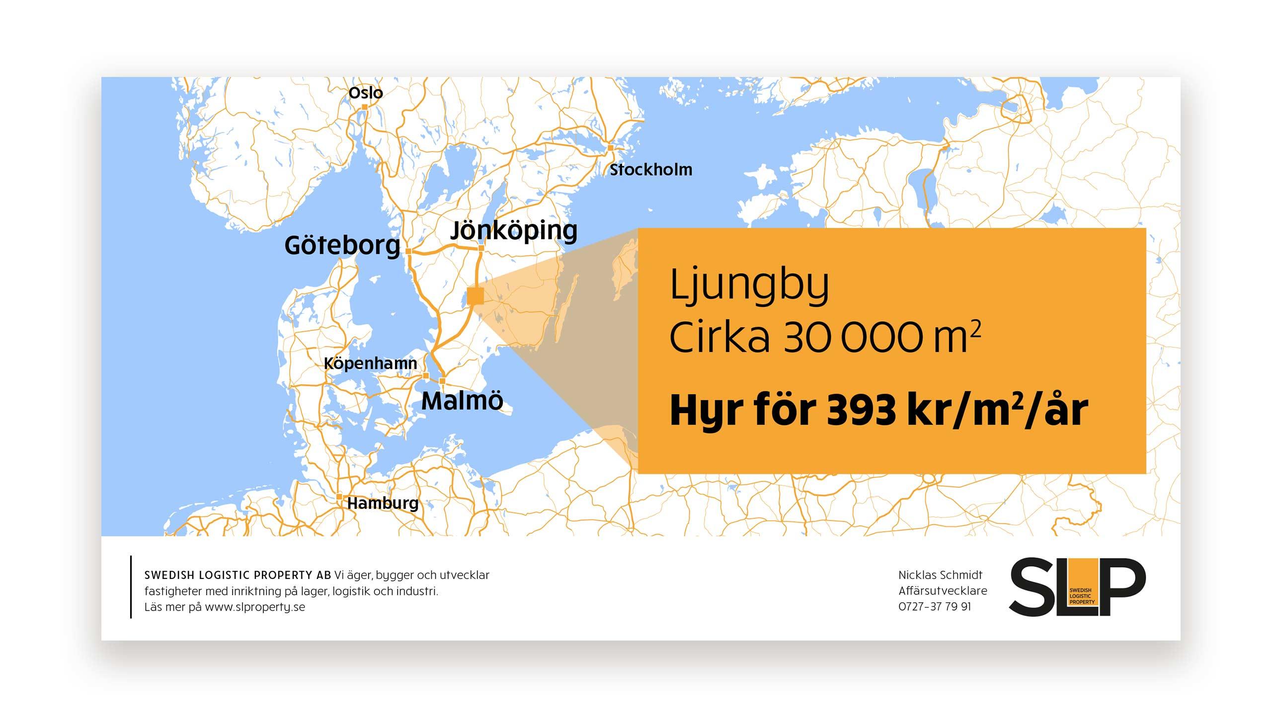 Ad design for Swedish Logistic Property