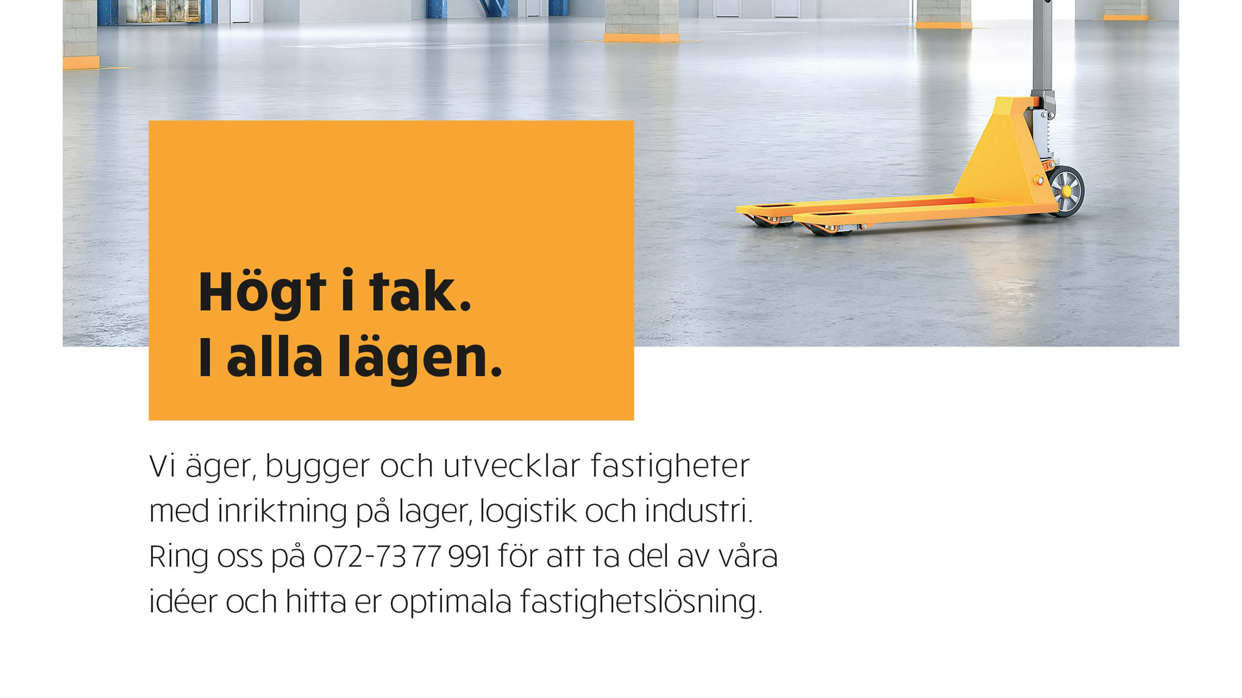 Ad design (zoomed) for Swedish Logistic Property