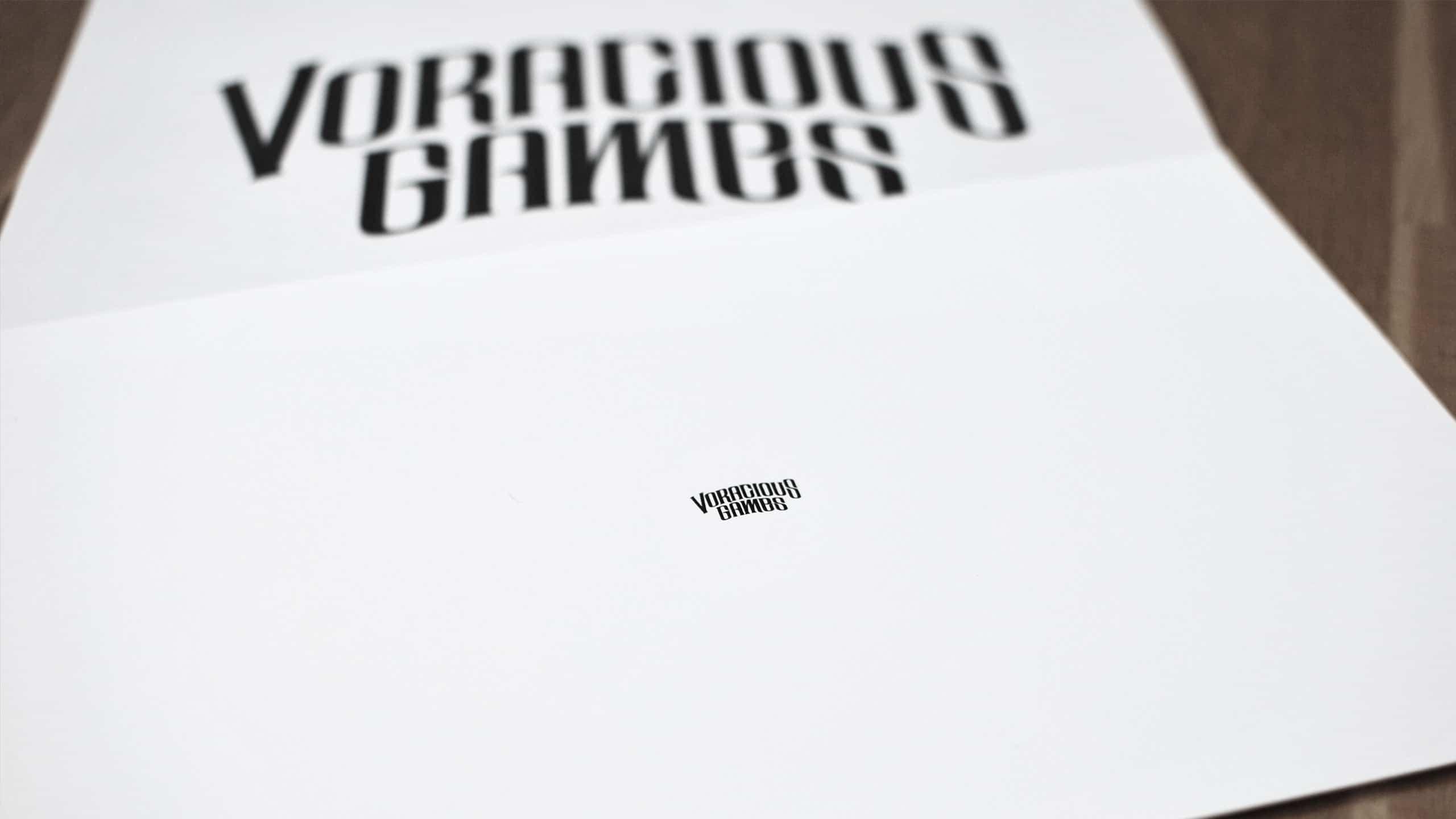 Small print logo for Voracious Games