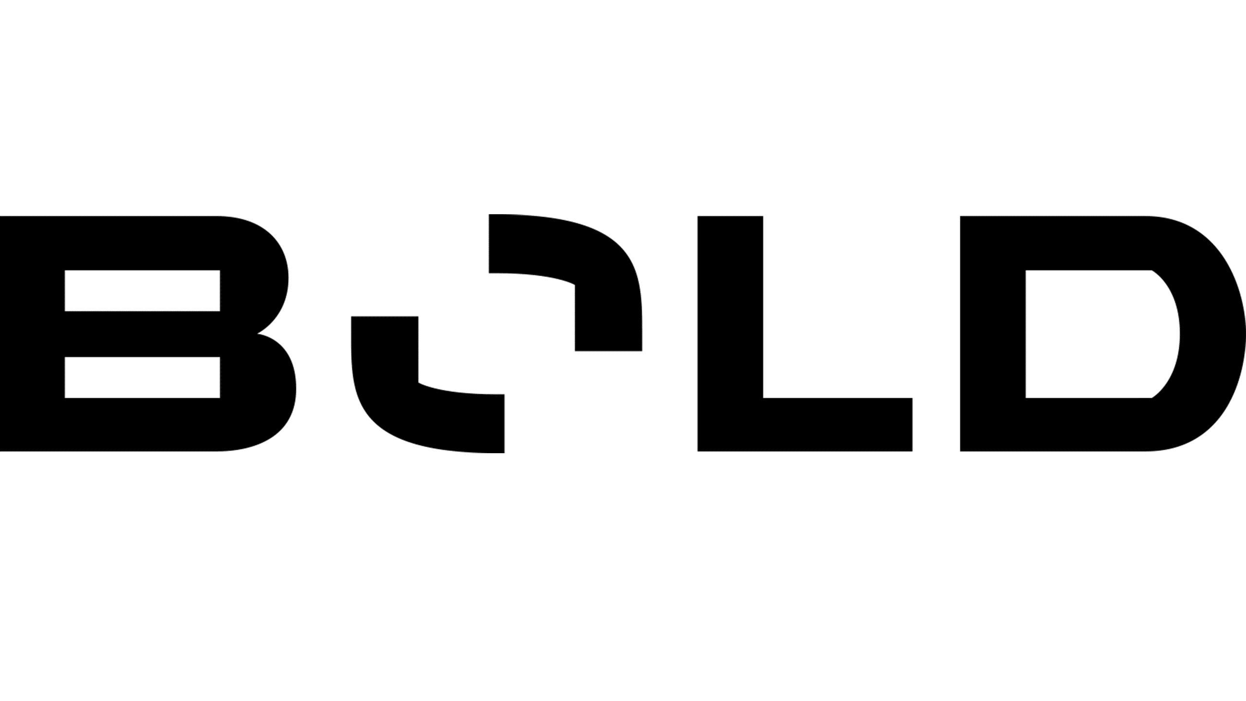 Final logo for Bold, black large.