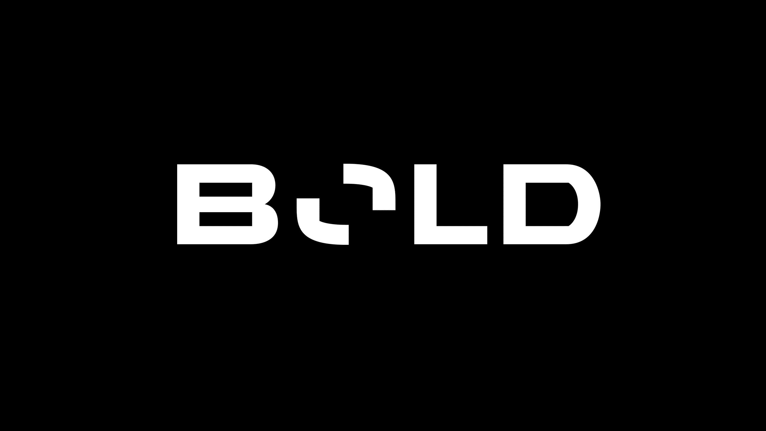 Final logo design white for Bold.
