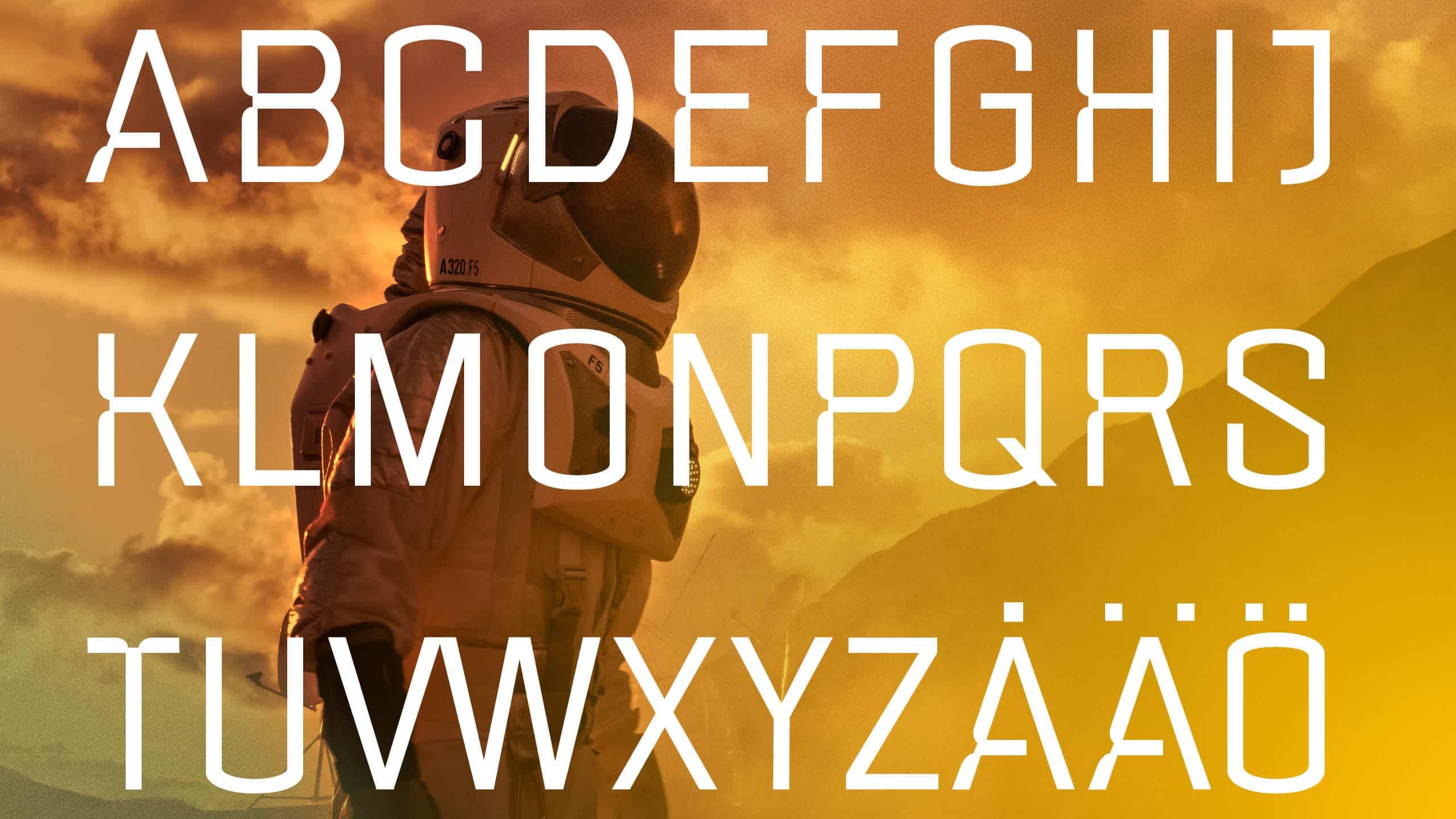 Marketing image for the font Fuglesans, A-Ö.