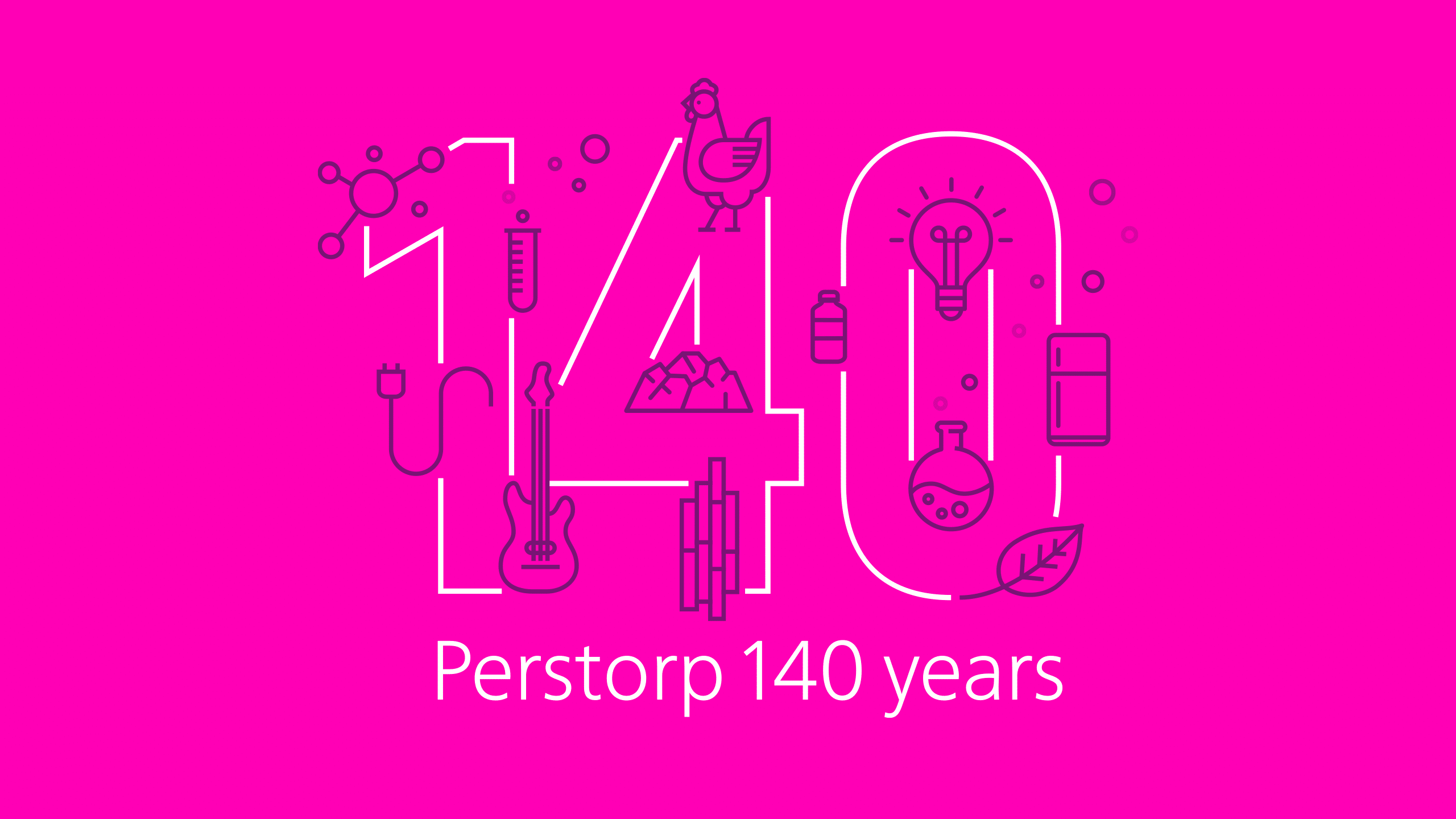 Final symbol for Perstorp 140 years anniversary.
