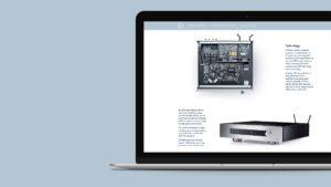Primare site on a laptop
