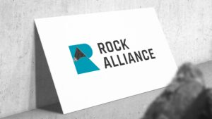 Business cards mockup for Rock Alliance.