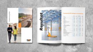 Image of a brochue mockup for SLP.