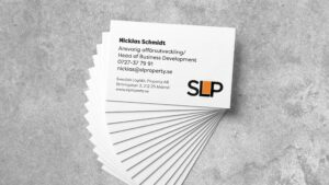 Image of business cards for SLP.