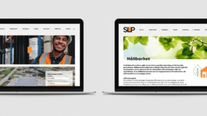 Image of a website mockup for SLP.